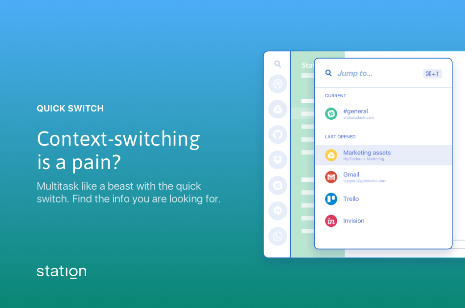 Become a multitasking beast with quick switch